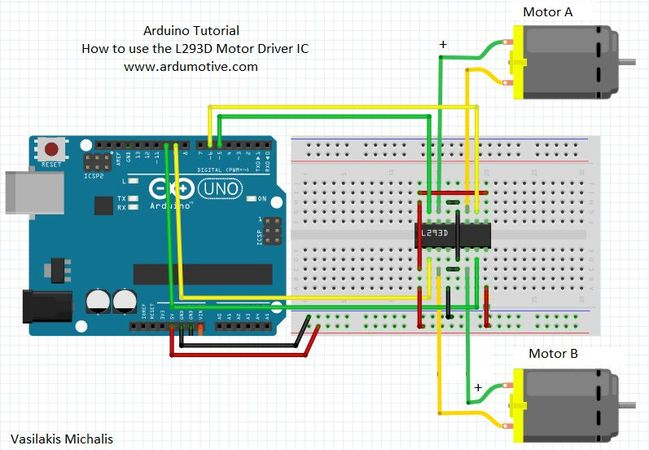 How to use the l d motor driver ic ardumotive arduino
