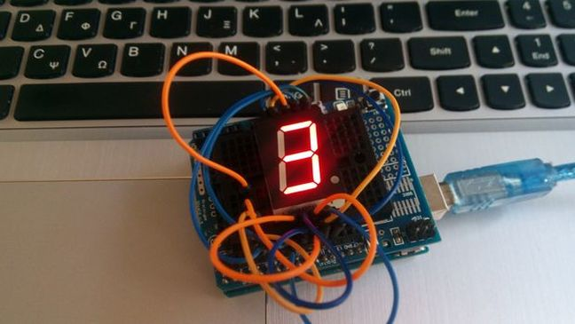 Arduino BCD to 7 segment display - YouTube