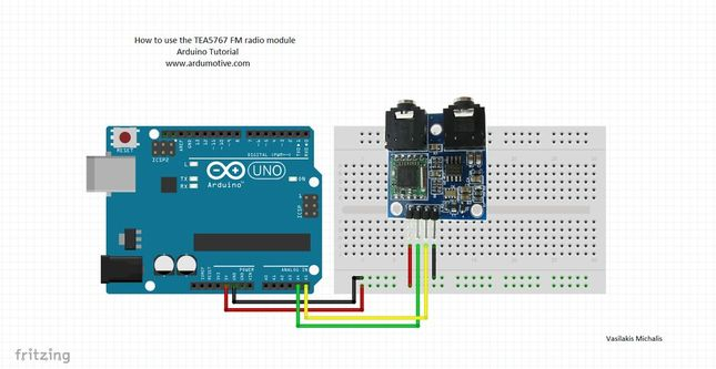 How to use the tea fm radio with arduino ardumotive