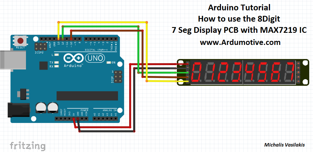 How to use an digit seven segment display with max