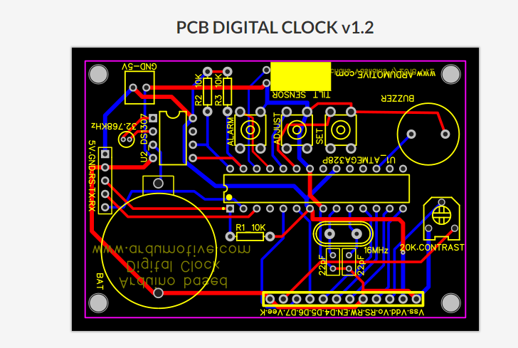 Arduino Digital Clock with Alarm Function - Ardumotive Arduino Greek ...