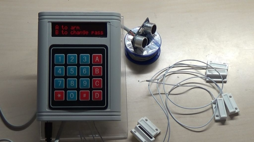 Arduino Password Security System with Magnetic Door Sensors