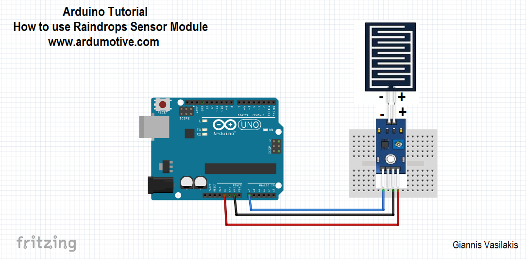 How to use the Raindrops sensor module with Arduino