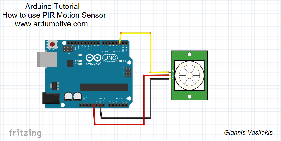 How to use PIR Motion Sensor with Arduino - Ardumotive